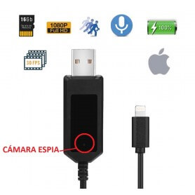 Cable espia para iPhone con camara oculta
