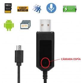 Cable espia para Android con camara oculta