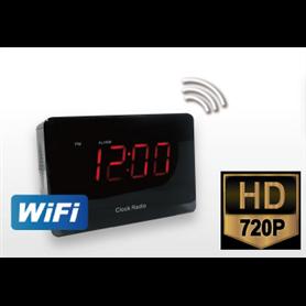 Camara espia en radio Reloj Despertador IR con PIR
